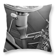 1948 Anglia Steering Wheel -504bw Throw Pillow