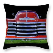 1948 Chevy Pickup W/badge Throw Pillow