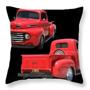 1948 Custom Ford F-100 Pick Up Throw Pillow