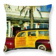 1948 Ford Woody Station Wagon Throw Pillow