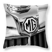 1948 Mg Tc Hood Ornament -767bw Throw Pillow