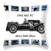 1948 Mg Tc Throw Pillow
