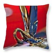 1948 Packard Hood Ornament Throw Pillow