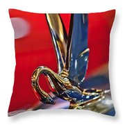 1948 Packard Hood Ornament Throw Pillow