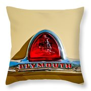 1948 Plymouth Deluxe Emblem Throw Pillow