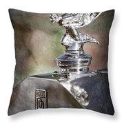 1948 Rolls-royce Hood Ornament - Emblem Throw Pillow