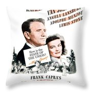 1948 - State Of The Union Motion Picture Poster - Spencer Tracy - Katherine Hepburn - Mgm - Color Throw Pillow