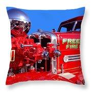 1949 Ahrens Fox Piston Pumper Fire Truck Throw Pillow