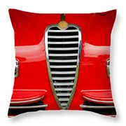 1949 Alfa Romeo 6c 2500 Ss Pininfarina Cabriolet Grille Throw Pillow