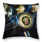 1949 Buick Roadmaster Riviera Coupe Steering Wheel Emblem Throw Pillow