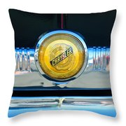 1949 Chrysler Windsor Grille Emblem Throw Pillow