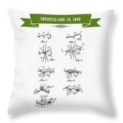 1949 Fish Lure Patent Drawing - Retro Green Throw Pillow