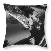 1949 Ford 2 Door Custom Painted Bw    Throw Pillow