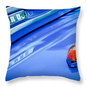 1949 Ford F-1 Pickup Truck Emblem -0027c Throw Pillow