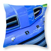 1949 Ford F-1 Pickup Truck Grille Emblem -0009c Throw Pillow