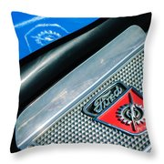 1949 Ford F-1 Pickup Truck Step Plate Emblem -0043c Throw Pillow