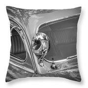 1949 Mercury Club Coupe Bw   Throw Pillow