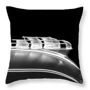 1949 Plymouth Schooner Hood Ornament 2 Throw Pillow