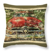 1949 Red Ford Coupe Throw Pillow