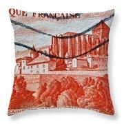 1949 Republique Francaise Stamp Throw Pillow