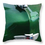 1949 Studebaker Champion Hood Ornament Throw Pillow