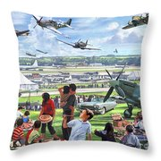 1950 Airshow Throw Pillow