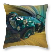 1950 Allard J-2 Lemans Car Throw Pillow