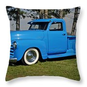 1950 Baby Blue Chevrolet Pu Throw Pillow