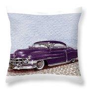Chopped 1950 Cadillac Coupe De Ville Throw Pillow