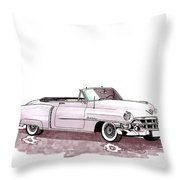1953 Cadillac El Dorado Throw Pillow