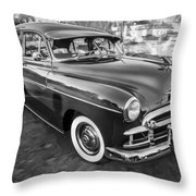 1950 Chevrolet Sedan Deluxe Painted Bw   Throw Pillow