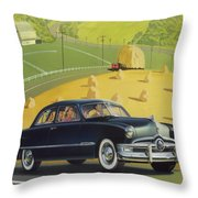1950 Custom Ford - Square Format Image Picture Throw Pillow