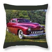 1950 Custom Mercury Throw Pillow