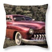 1950 Custom Mercury Subdued Color Throw Pillow