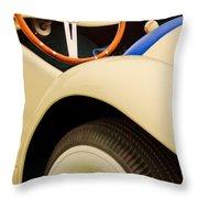 1950 Eddie Rochester Anderson Emil Diedt Roadster Steering Wheel Throw Pillow