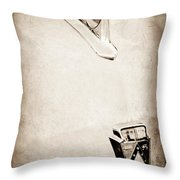 1950 Ford Hood Ornament - Emblem Throw Pillow