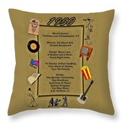 1950 Great Events Throw Pillow