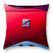 1950 Healey Silverston Sports Roadster Emblem Throw Pillow