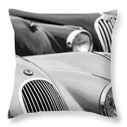 1950 Jaguar Xk120 Roadster Grille 2 Throw Pillow