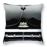 1950 Lincoln Cosmopolitan Henney Limousine Grille Emblem - Hood Ornament Throw Pillow