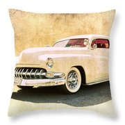 1950 Mercury Grunge Throw Pillow