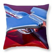 1950 Nash Hood Ornament Throw Pillow