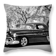 1950 Oldsmobile 88 -004bw Throw Pillow