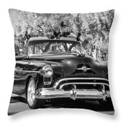 1950 Oldsmobile 88 -105bw Throw Pillow