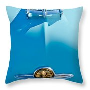 1950 Oldsmobile Hood Ornament Throw Pillow by Jill Reger