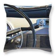 1950 Oldsmobile Rocket 88 Steering Wheel 3 Throw Pillow by Jill Reger