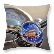 1950 Oldsmobile Rocket 88 Steering Wheel Throw Pillow by Jill Reger