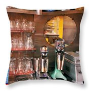 1950's - Diner - A 1950's Diner Throw Pillow