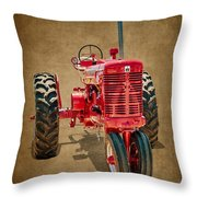 1950s Era International Harvester Tractor E108 Throw Pillow by Wendell Franks