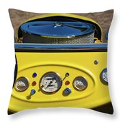 1950s Hot Road Dashboard At Antique Car Throw Pillow